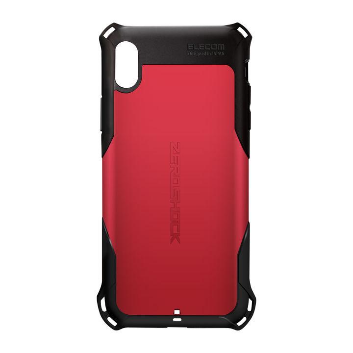 iPhone XS Max ケース ZEROSHOCK 耐衝撃吸収ケース スタンダード レッド iPhone XS Max_0