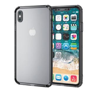 ハイブリッドバンパー ブラック iPhone XS Max【10月上旬】