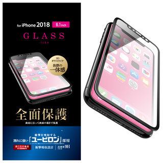 iPhone XR フィルム フルカバーガラスライクフィルム ユーピロン/ブラック iPhone XR