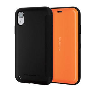 iPhone XR ケース TOUGH SLIM シェルフラップ 手帳型ケース オレンジ iPhone XR