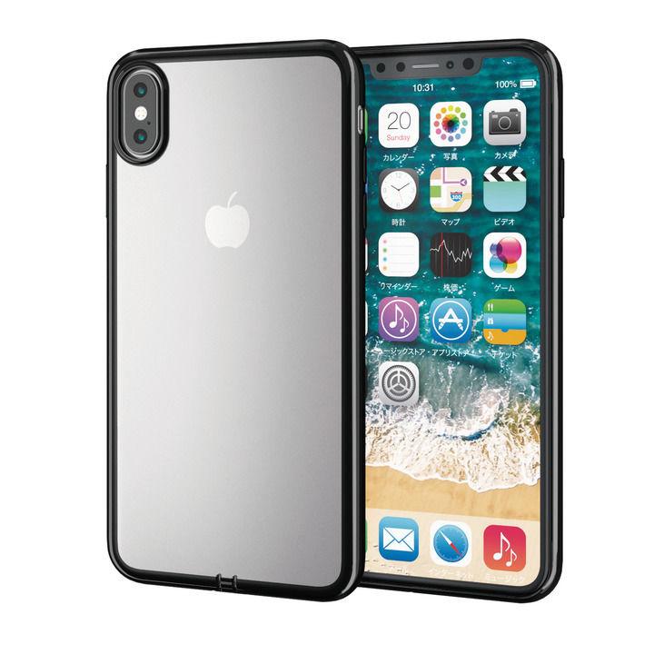iPhone XS Max ケース サイドメッキソフトケース ブラック iPhone XS Max_0