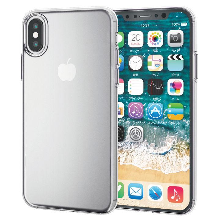 【iPhone XSケース】薄型ソフトケース クリア iPhone XS【3月上旬】_0