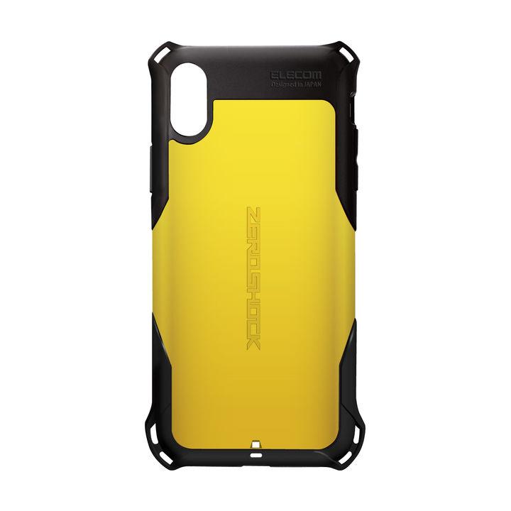 iPhone XS ケース ZEROSHOCK 耐衝撃吸収ケース スタンダード イエロー iPhone XS_0