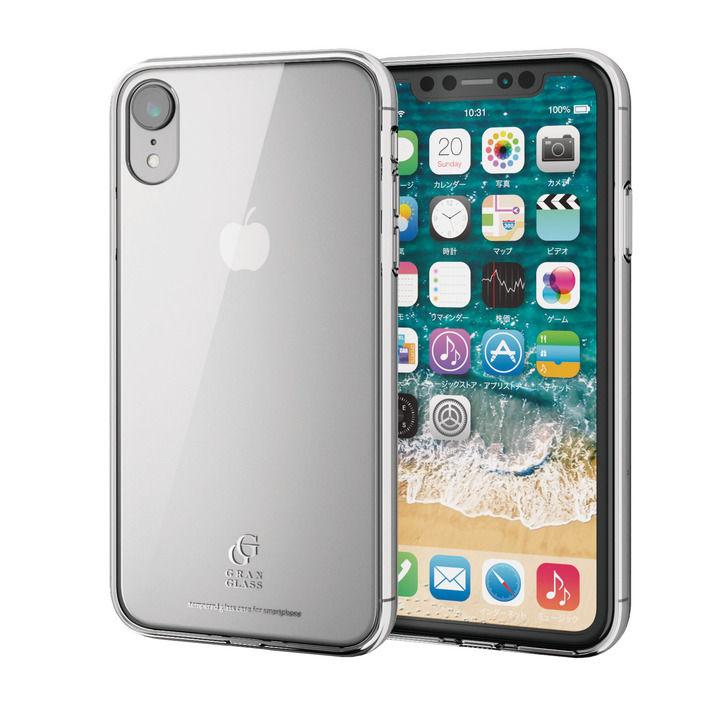 iPhone XR ケース ハイブリッド強化ガラスケース スタンダード クリア iPhone XR_0