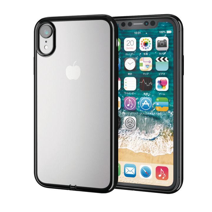iPhone XR ケース サイドメッキソフトケース ブラック iPhone XR_0