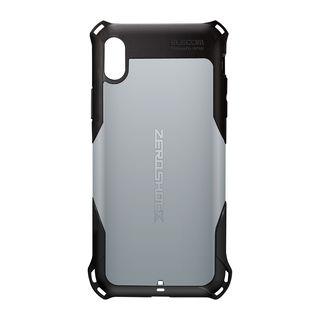 ZEROSHOCK 耐衝撃吸収ケース スタンダード シルバー iPhone XS Max【9月下旬】