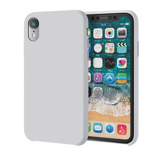 【iPhone XRケース】ハイブリッドシリコンケース ホワイト iPhone XR【9月下旬】