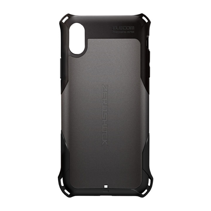 iPhone XR ケース ZEROSHOCK 耐衝撃吸収ケース スタンダード ガンメタリック iPhone XR_0