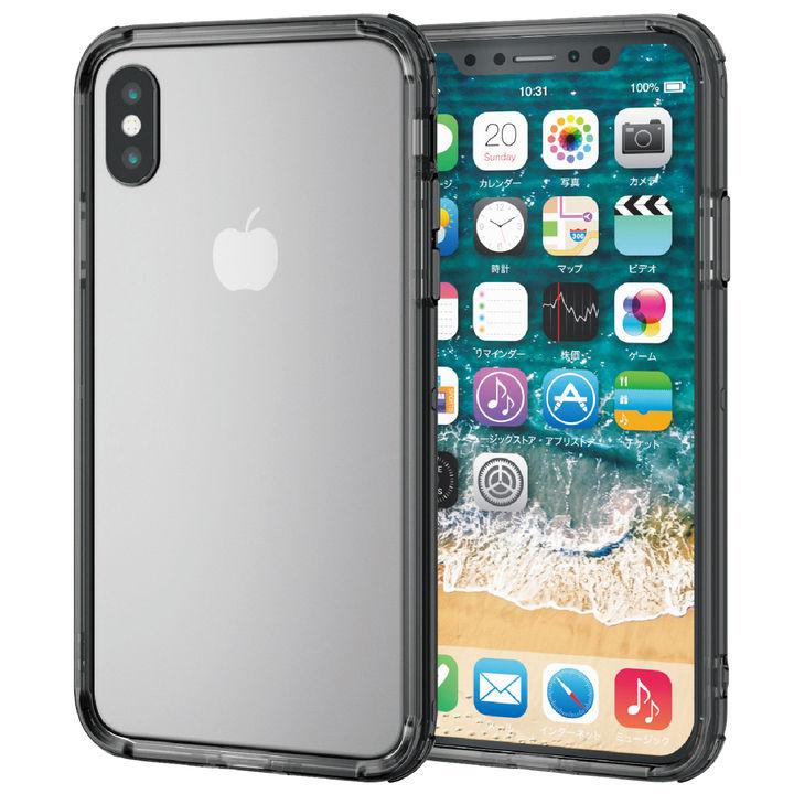 iPhone XS ケース ハイブリッドバンパー ブラック iPhone XS_0
