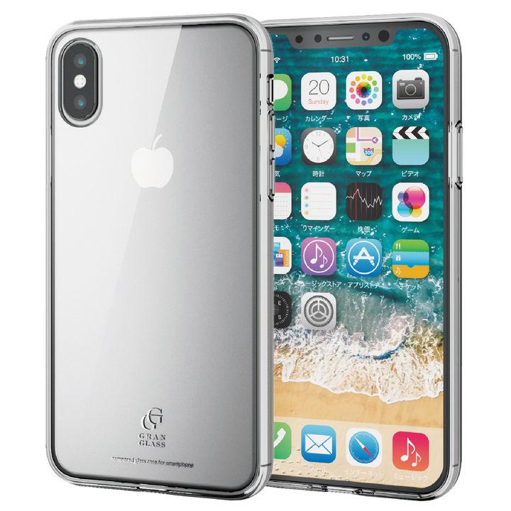 ハイブリッド強化ガラスケース スタンダード クリア iPhone XS【9月下旬】