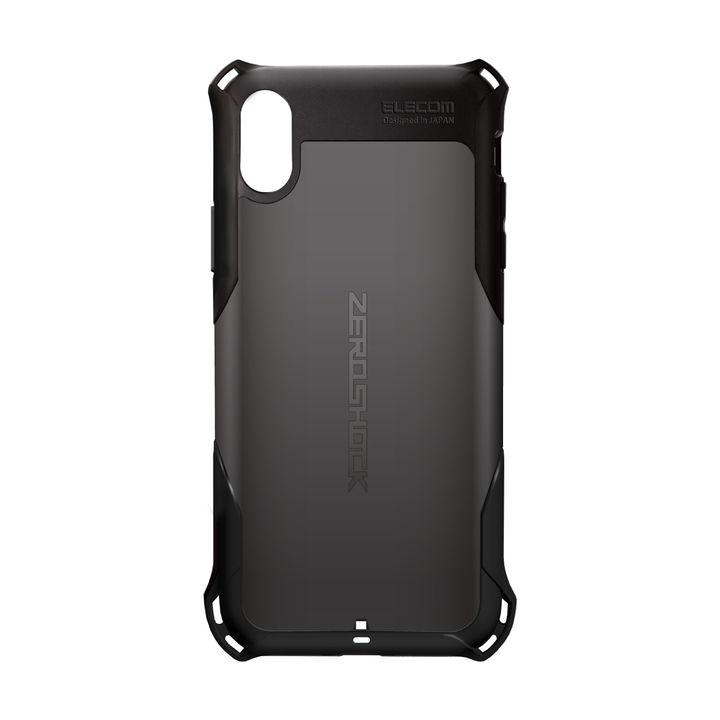 iPhone XS ケース ZEROSHOCK 耐衝撃吸収ケース スタンダード ブラック iPhone XS_0