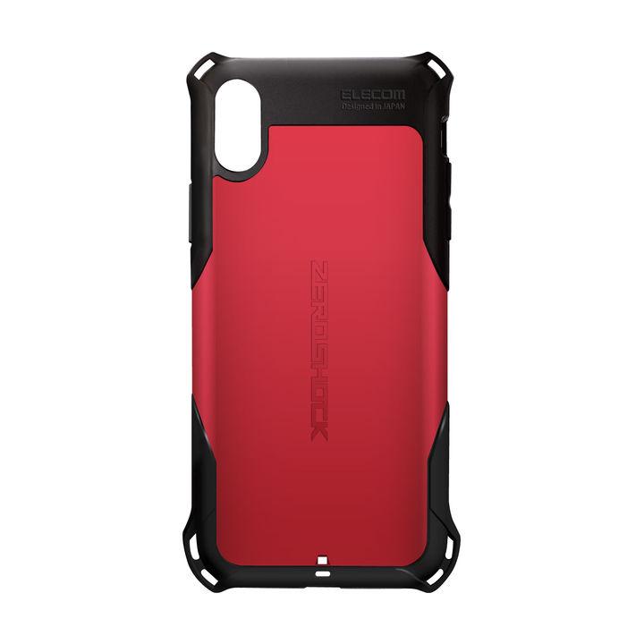 iPhone XS ケース ZEROSHOCK 耐衝撃吸収ケース スタンダード レッド iPhone XS_0
