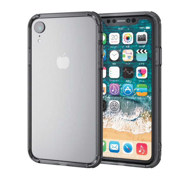 iPhone XR ケース ハイブリッドバンパー ブラック iPhone XR_0