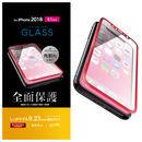 フルカバー強化ガラス フレーム付 レッド iPhone XR