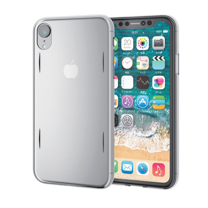 iPhone XR ケース ウルトラスリムシェルカバーケース AQUA クリア iPhone XR_0