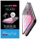 フルカバー強化ガラス フレーム付 ドラゴントレイル/ブラック iPhone XR