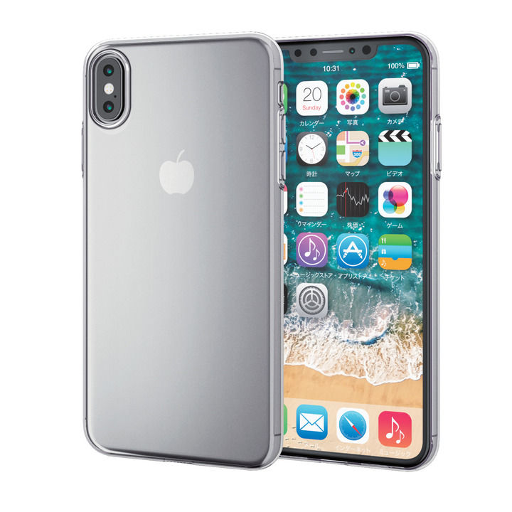 【iPhone XS Maxケース】薄型ソフトケース クリア iPhone XS Max_0