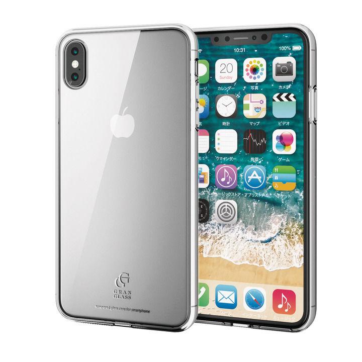 iPhone XS Max ケース ハイブリッド強化ガラスケース スタンダード クリア iPhone XS Max_0