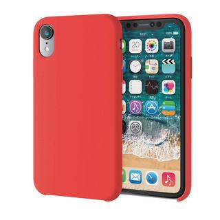 【iPhone XRケース】ハイブリッドシリコンケース レッド iPhone XR【9月下旬】