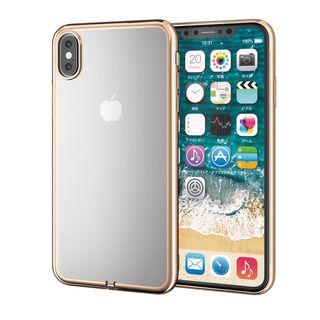 【iPhone XS Maxケース】サイドメッキソフトケース ゴールド iPhone XS Max【9月下旬】