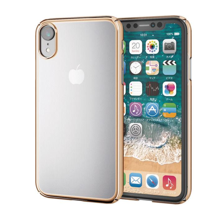 iPhone XR ケース シェルカバー 極み サイドメッキケース ゴールド iPhone XR_0