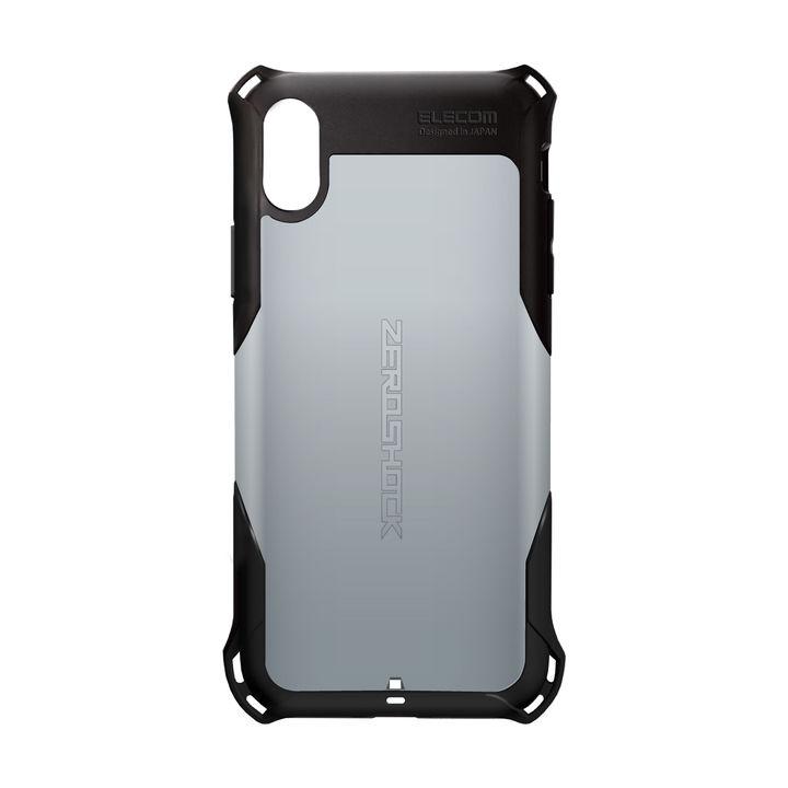 iPhone XS ケース ZEROSHOCK 耐衝撃吸収ケース スタンダード シルバー iPhone XS_0