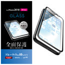 フルカバー強化ガラス フレーム付 ブルーライトカット/ブラック iPhone XR