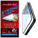 フルカバー強化ガラス 超強化/ブルーライトカット/ブラック iPhone XR