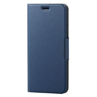 iPhone XS ケース ソフトレザー薄型手帳型ケース 磁石付 ネイビー iPhone XS