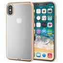 サイドメッキソフトケース ゴールド iPhone XS