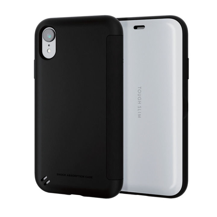 iPhone XR ケース TOUGH SLIM シェルフラップ 手帳型ケース ホワイト iPhone XR_0