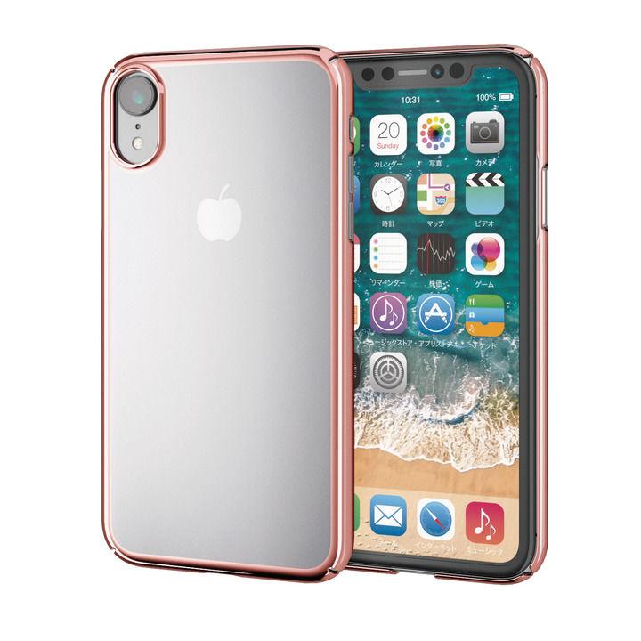 iPhone XR ケース シェルカバー 極み サイドメッキケース ローズゴールド iPhone XR_0