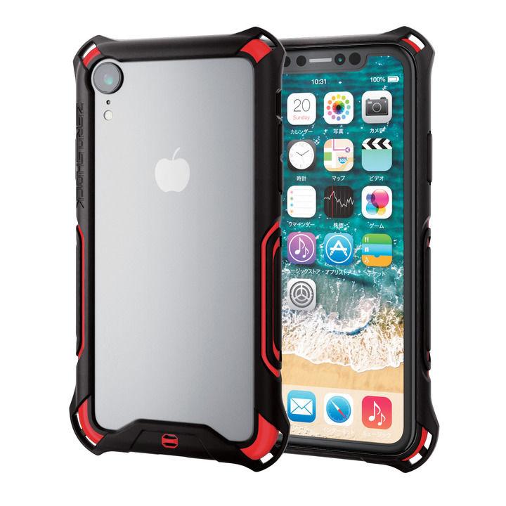iPhone XR ケース ZEROSHOCK 耐衝撃吸収バンパー レッド iPhone XR_0