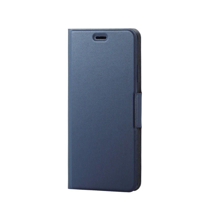 iPhone XS Max ケース ソフトレザー薄型手帳型ケース 磁石付 ネイビー iPhone XS Max_0