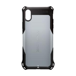 iPhone XS ケース ZEROSHOCK 耐衝撃吸収ケース スタンダード シルバー iPhone XS