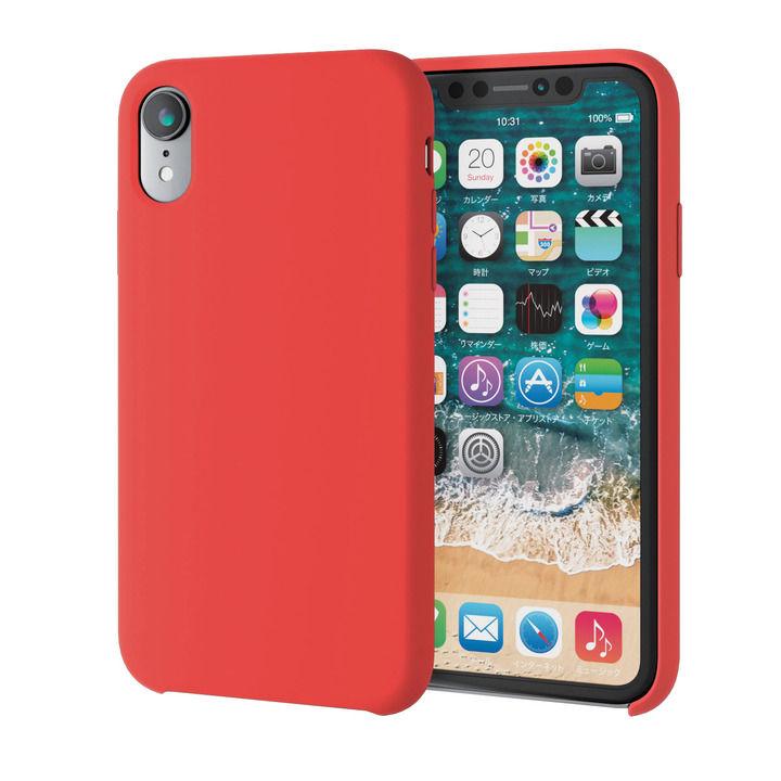 iPhone XR ケース ハイブリッドシリコンケース レッド iPhone XR_0