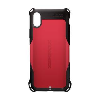 iPhone XS ケース ZEROSHOCK 耐衝撃吸収ケース スタンダード レッド iPhone XS