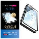フルカバー強化ガラス ブルーライトカット/ブラック iPhone XR