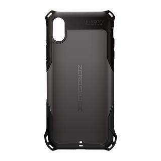 iPhone XR ケース ZEROSHOCK 耐衝撃吸収ケース スタンダード ブラック iPhone XR