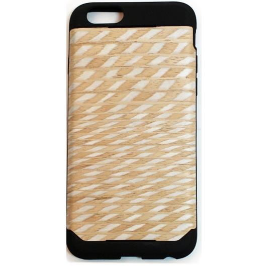 木材の素材感を生かしたウッドスキン ダイアモンド iPhone 6ケース