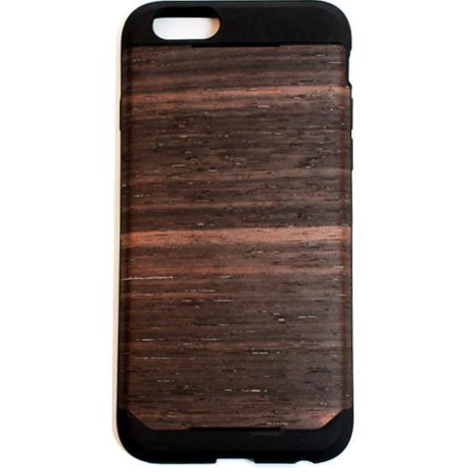 木材の素材感を生かしたウッドスキン エボニー iPhone 6ケース