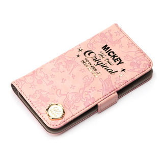 【iPhone XRケース】iJacket 手帳型ケース ミッキーマウス/ピンク iPhone XR
