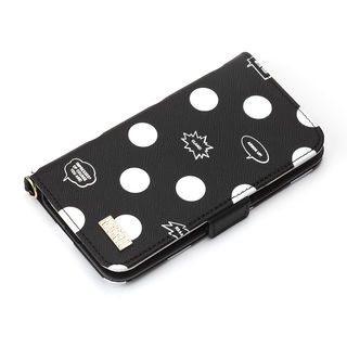 iPhone XS/X ケース iJacket 手帳型ケース アベンジャーズ/ブラック iPhone XS/X