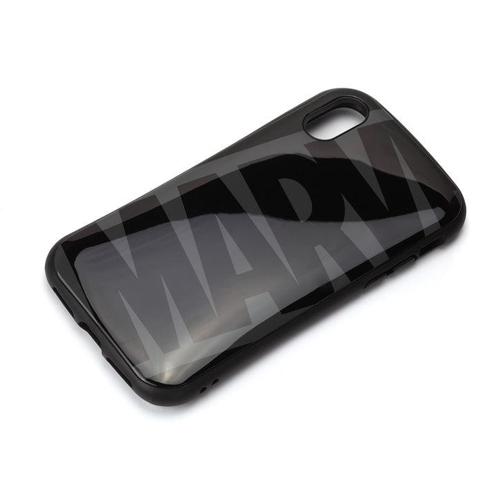 iPhone XS/X ケース Premium Style ハイブリッドタフケース ロゴ/ブラック&グレー iPhone XS/X_0