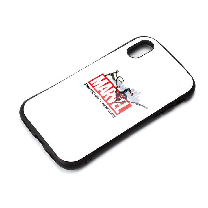 iPhone XS/X ケース Premium Style ハイブリッドタフケース スパイダーマン/ホワイト iPhone XS/X_0