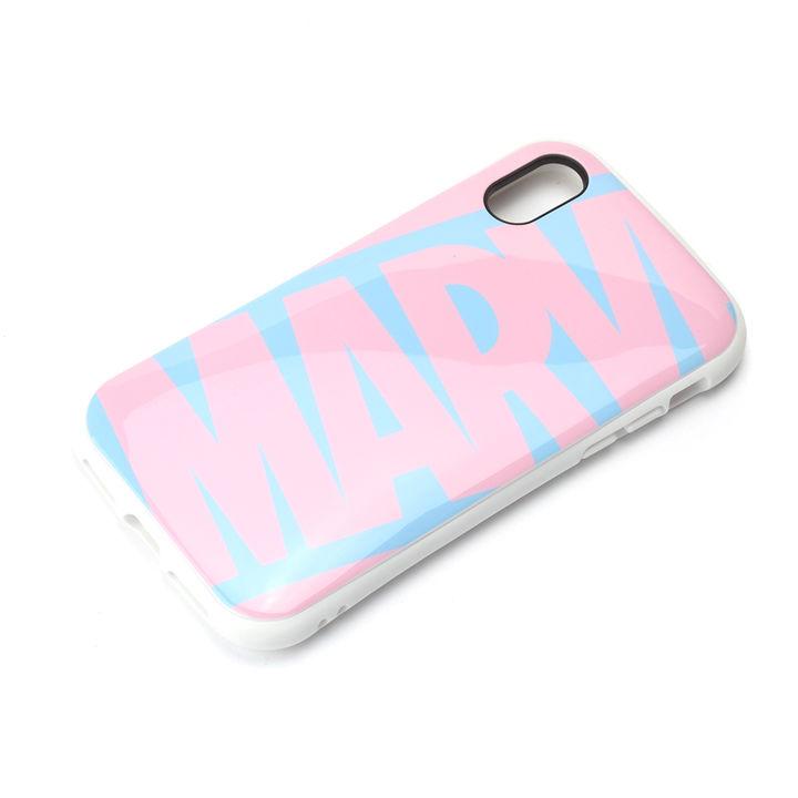 iPhone XS/X ケース Premium Style ハイブリッドタフケース ロゴ/ピンク&ブルー iPhone XS/X_0