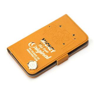 iPhone XR ケース iJacket 手帳型ケース ミッキーマウス/オレンジ iPhone XR