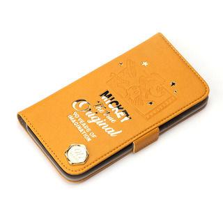 iPhone XS/X ケース iJacket 手帳型ケース ミッキーマウス/オレンジ iPhone XS/X