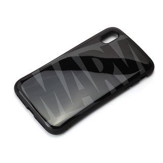 【iPhone XS Maxケース】Premium Style ハイブリッドタフケース ロゴ/ブラック&グレー iPhone XS Max
