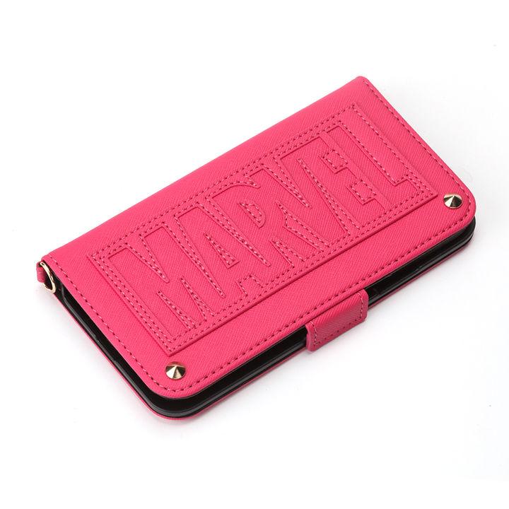 【iPhone XSケース】iJacket 手帳型ケース ロゴ/ピンク iPhone XS_0